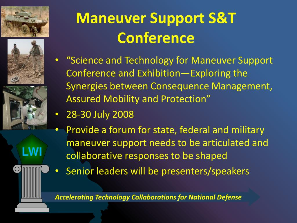 Maneuver Support S&T Conference