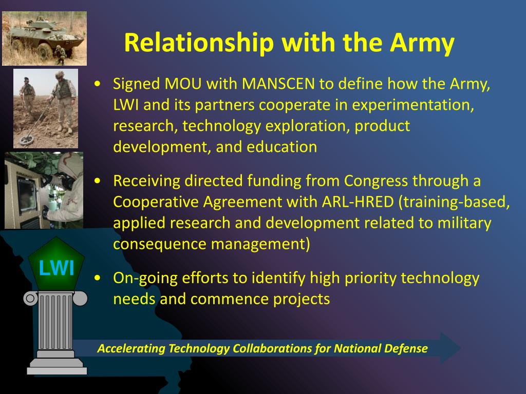 Relationship with the Army