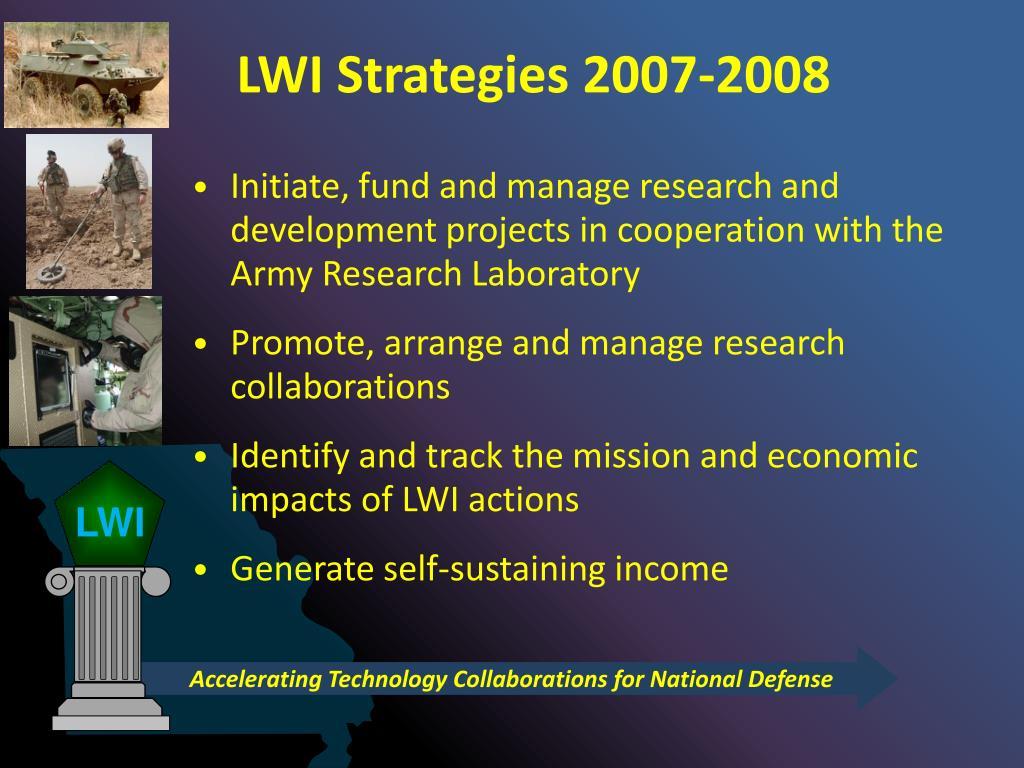 LWI Strategies 2007-2008