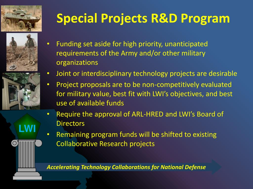Special Projects R&D Program