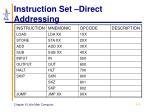 instruction set direct addressing