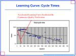 learning curve cycle times