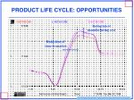 product life cycle opportunities