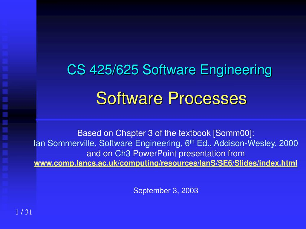 cs 425 625 software engineering software processes l.