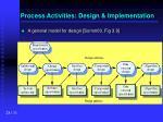 process activities design implementation