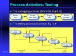 process activities testing