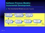 software process models incremental development