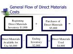 general flow of direct materials costs