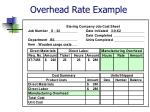 overhead rate example43