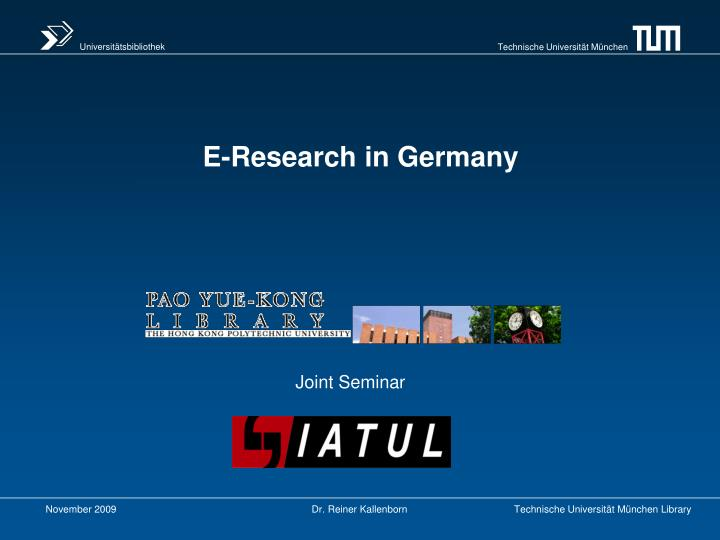 e research in germany n.