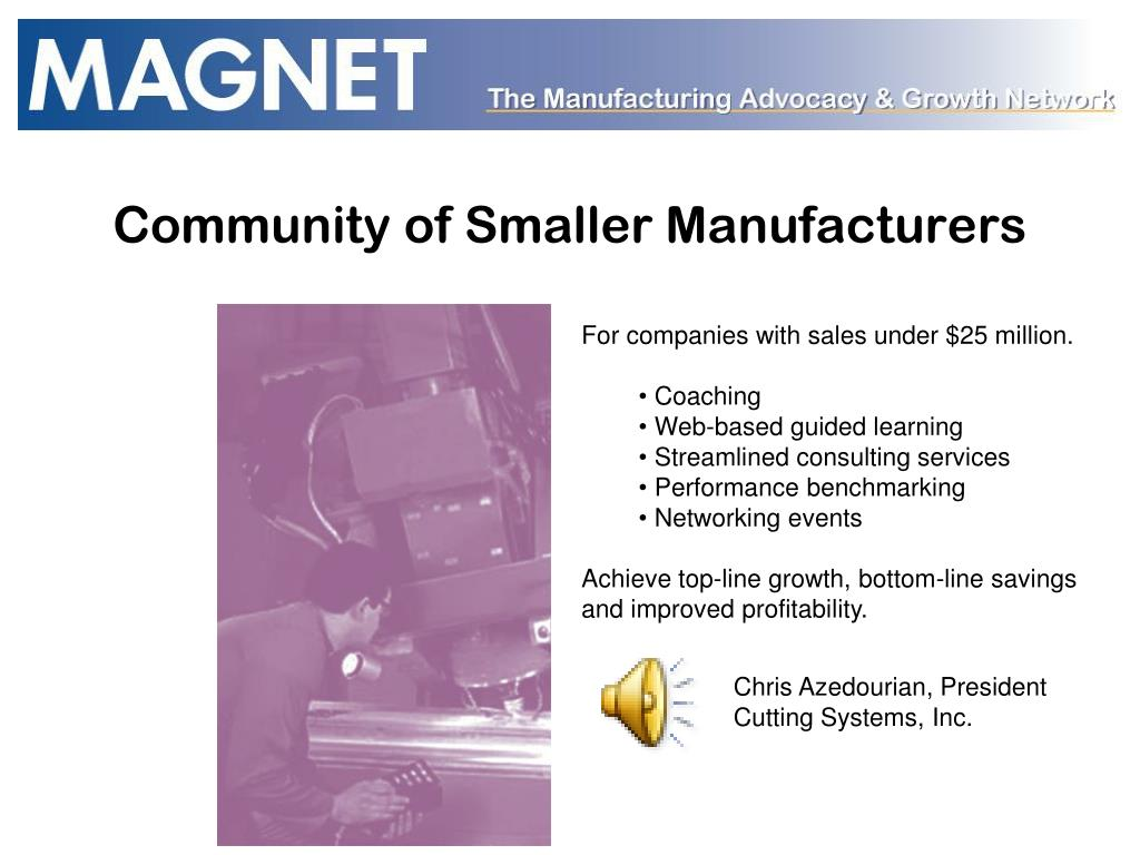 Community of Smaller Manufacturers