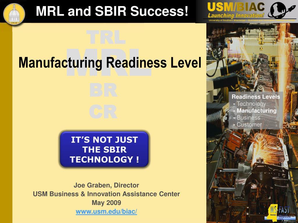 mrl and sbir success l.