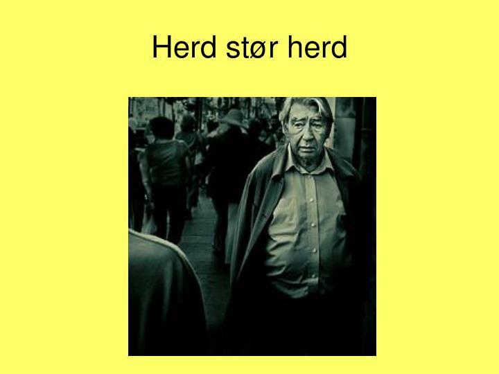 Herd st r herd