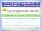 estrutura b sica dos cadernos de orienta o para professores de eja19