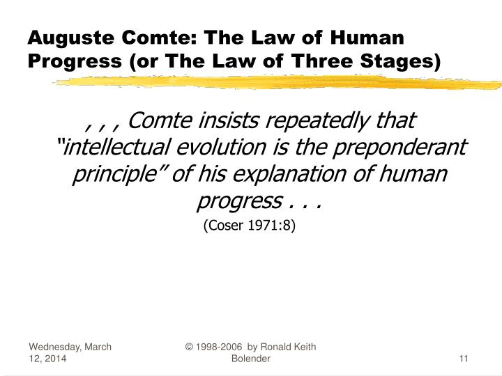 law of three stages by auguste comte