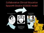 collaborative clinical education epworth deakin cceed model