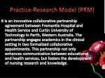 practice research model prm