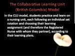 the collaborative learning unit british columbia model