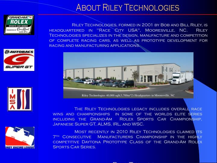 About Riley Technologies