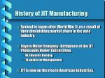 history of jit manufacturing