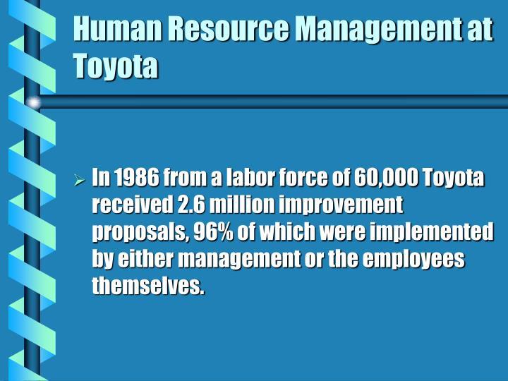 toyota human resource management