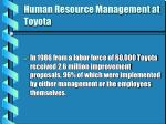 human resource management at toyota
