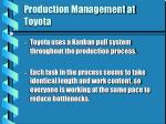 production management at toyota