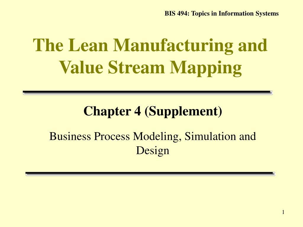 the lean manufacturing and value stream mapping l.