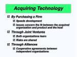acquiring technology