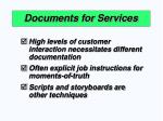 documents for services