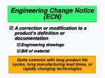engineering change notice ecn