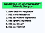 guidelines for environmentally friendly designs