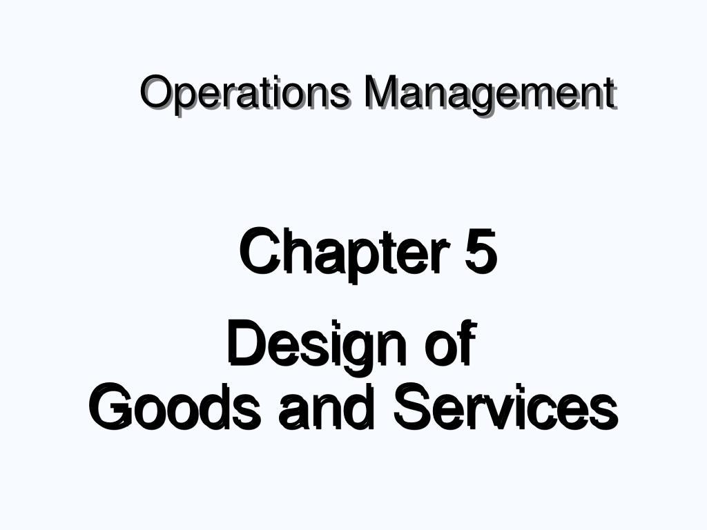 operations management l.