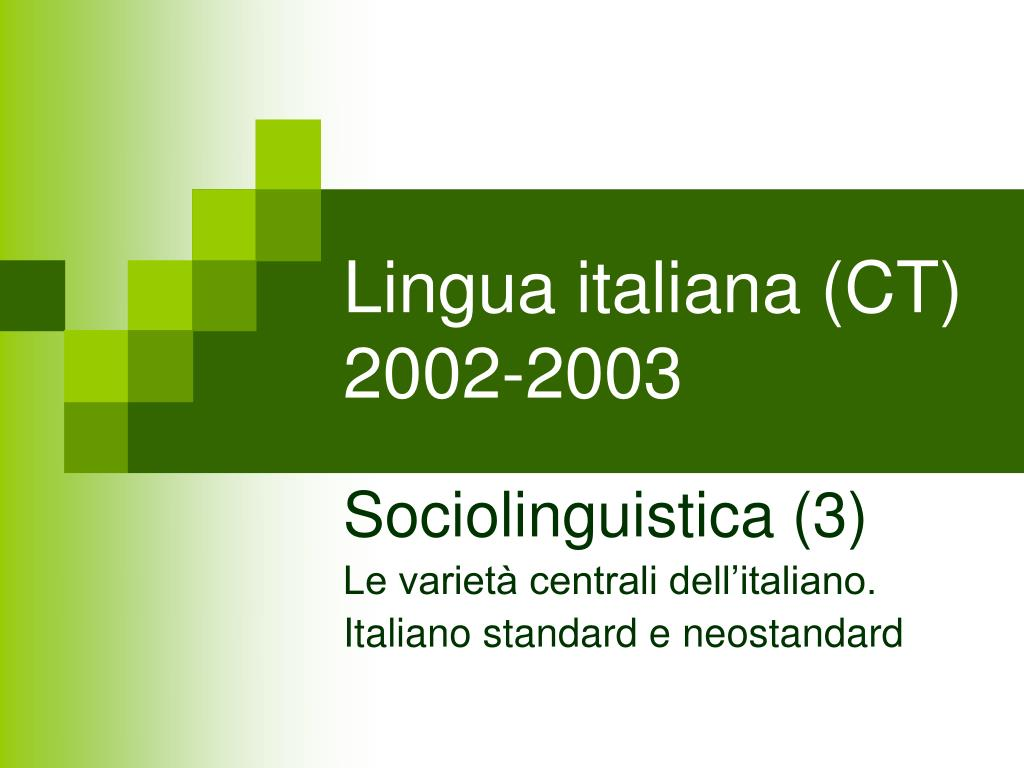 lingua italiana ct 2002 2003 l.