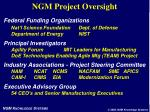 ngm project oversight