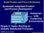 rapid product and process realization