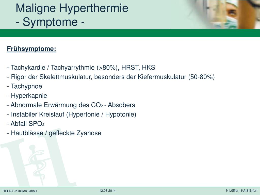 PPT - Maligne Hyperthermie - The Ugly - PowerPoint..
