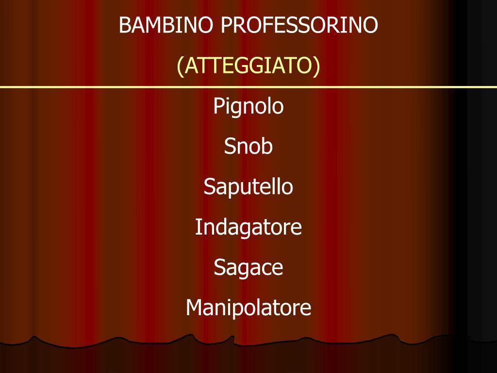 BAMBINO PROFESSORINO