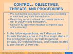 control objectives threats and procedures57