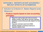 criticism 2 reports do not accurately reflect effects of automation93