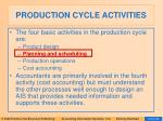 production cycle activities14