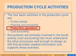 production cycle activities28