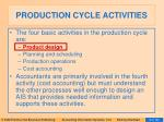 production cycle activities9