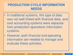 production cycle information needs64