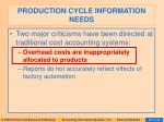 production cycle information needs66