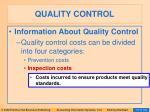 quality control100
