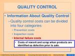 quality control101