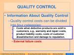 quality control102