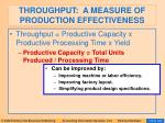 throughput a measure of production effectiveness
