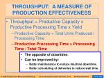 throughput a measure of production effectiveness96